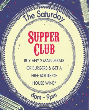 Saturday Supper Club